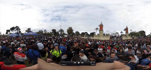 Vista previa de video 360 creado por imágenes 360