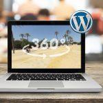 como insertar imagen 360 en wordpress